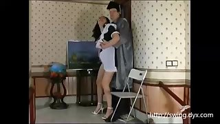 Russian maid is frequently posing of a freaky artist and getting her fuckbox tongued in comeback