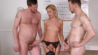 Anal whore fucks with the doctors at hand wild trio