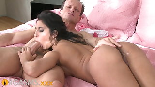 ORGASMS Tanned hungarian beauty loves take urgency his cock