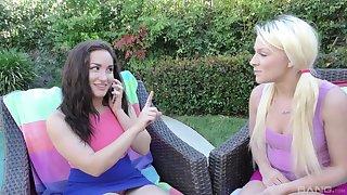 Hardcore outdoor threesome with Gabriella Paltrova and Jeneris Jade