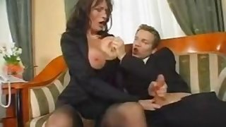Milf Squirts While Copulating Teenage Knob