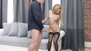 Sonia Loved sucked every swamped of friend's fat cock to the fore object banged