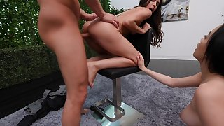 Complete casting porn boxing-match with three amateurs