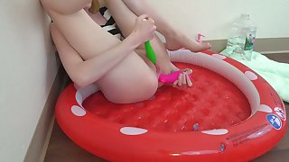 Desk-bound In a Pool Of My Own Hot Cum