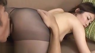 Japanese pulchritude in pantyhose dream sex