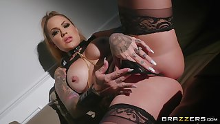 Neglected and horn-mad Karmen Karma adores BDSM and all sexy lesbian games