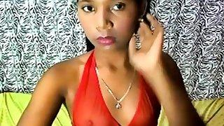 Dark-skinned brazillian teen
