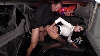 British babe plays police woman