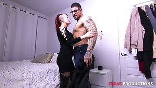 Three richly endowed twins fuck furiously slutty emo girlfriend Lydya Moser