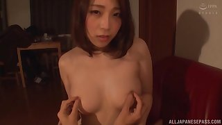 After she takes her clothes off  Hachino Tsubasa gets her cunt spellbound