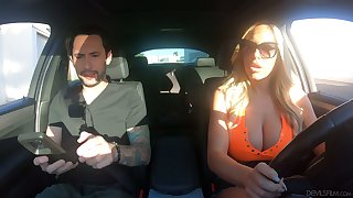 Driving instructor can't resist fucking bodacious bombshell Olivia Austin