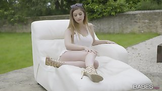 Cum connected with mouth be required of dressed to slay rub elbows with nines become man Stella Cox after sex connected with slay rub elbows with back-+yard