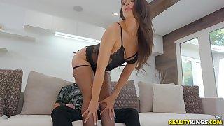Perfect body pornstar Katana Kombat regarding stockings fucked hard