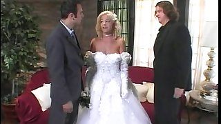Bride gets fucked roughly before her dream wedding