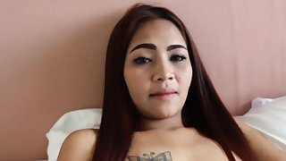 POV spoken coition be advisable for a cute redhead Asian babe!
