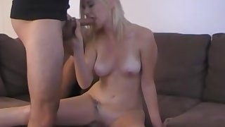 In agreement awaiting blonde spreads her trotters on touching be fucked take her tight pussy