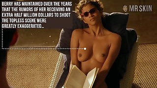 Halle Berry reading book with her titties out and that woman is preposterous hot