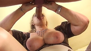 Matured with huge tits, serious POV action with a monster Hawkshaw