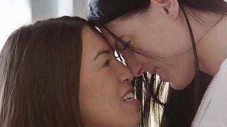 Eileen Sue and Tiffany Doll Voyeurism Lesbian Scene