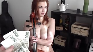 BBW CZECH GIRL SOPHIA TRAXLER FUCKING FOR MONEY AFTER PLAYING Clowning THRONES THEME ON VIOLIN
