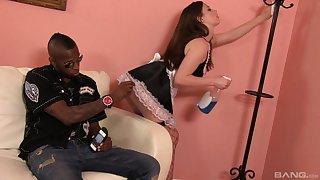 Hardcore interracial sex prevalent hot botheration brunette crumpet Natalie Moore