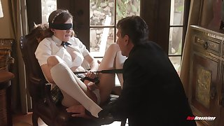 Biddable schoolgirl Devon Callow does as A the brush masterful lover desires